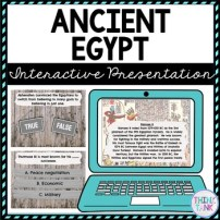 Ancient Egypt Interactive Google Slides picture