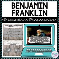 Benjamin Franklin Interactive Google Slides picture