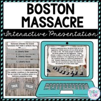 Boston Massacre Interactive Google Slides picture