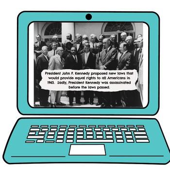 Civil Rights Movement Interactive Google Slides picture