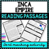 Inca Empire Reading Passages picture