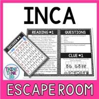 Inca Escape Room Activity picture