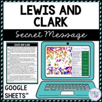 Lewis and Clark Secret Message Activity for Google Sheets picture