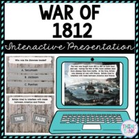 War of 1812 Interactive Google Slides picture