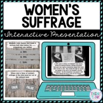 Women's Suffrage Interactive Google Slides picture