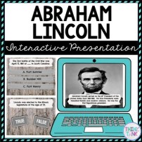 Abraham Lincoln Interactive Google Slides™ Presentation | Distance Learning picture