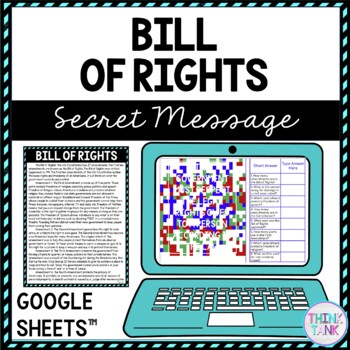 Bill of Rights Secret Message Activity for Google Sheets picture