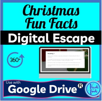 Christmas Fun Facts DIGITAL ESCAPE ROOM for Google Drive® | Distance Learning picture