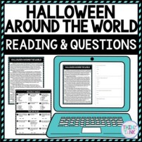 Halloween Around the World DIGITAL Reading Passage & Questions - Self Grading picture