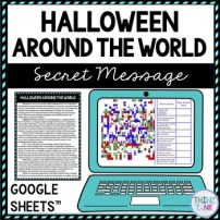 Halloween Around the World Secret Message Activity for Google Sheets picture