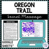 Oregon Trail Secret Message Activity for Google Sheets™ picture