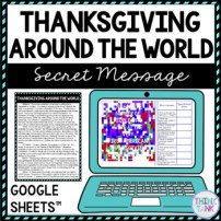 Thanksgiving Around the World Secret Message Activity for Google Sheets picture