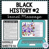 Black History #2 Secret Message Activity for Google Sheets™ | Distance Learning
