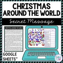 Christmas Around the World Secret Message Activity for Google Sheets™