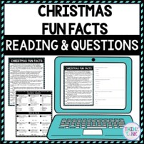 Christmas Fun Facts DIGITAL Reading Passage & Questions
