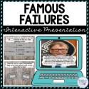 Famous Failure Interactive Google Slides™ Presentation   Growth Mindset
