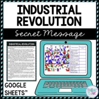 Industrial Revolution Secret Message Activity for Google Sheets™