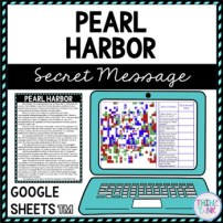Pearl Harbor Secret Message Activity for Google Sheets™ I Distance Learning