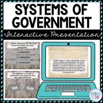 Systems of Government Interactive Google Slides™ Presentation Distance Learning