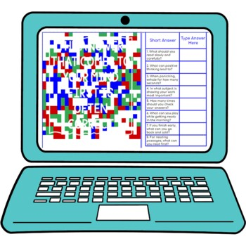 Test-Taking Strategies Secret Message Activity for Google Sheets™