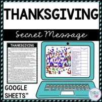 Thanksgiving Secret Message Activity for Google Sheets™
