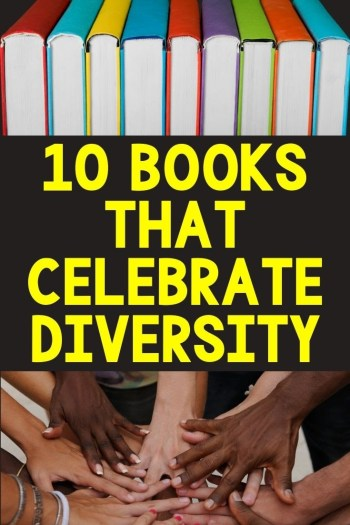 ten books that Celebrate diversity pin picture