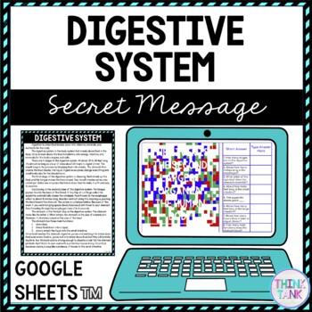 Digestive System Secret Message Activity for Google Sheets™