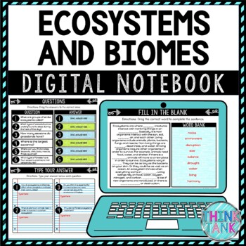 Ecosystems and Biomes DIGITAL Interactive Notebook | Choice Board
