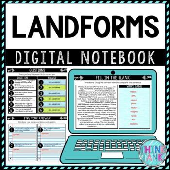 Landforms DIGITAL Interactive Notebook | Choice Board