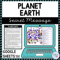 Planet Earth Secret Message Activity for Google Sheets™