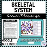 Skeletal System Secret Message Activity for Google Sheets™
