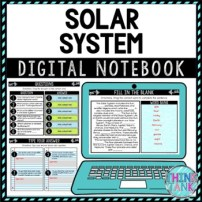Solar System DIGITAL Interactive Notebook | Choice Board
