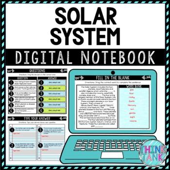 Solar System DIGITAL Interactive Notebook | Choice Board