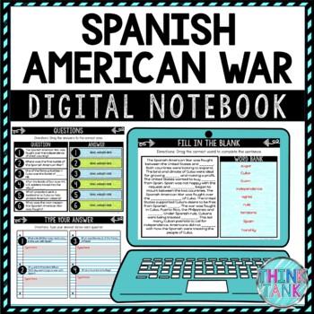 Spanish American War DIGITAL Interactive Notebook | Choice Board
