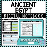 Ancient Egypt DIGITAL Interactive Notebook | Choice Board | King Tut