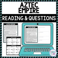 Aztec Empire DIGITAL Reading Passage and Questions - Self Grading pic