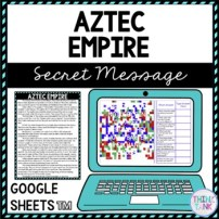 Aztec Empire Secret Message Activity for Google Sheets™ I Distance Learning pic