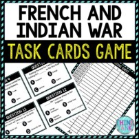 French and Indian War Task Cards Review Game