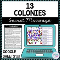 13 Colonies Educational Activity