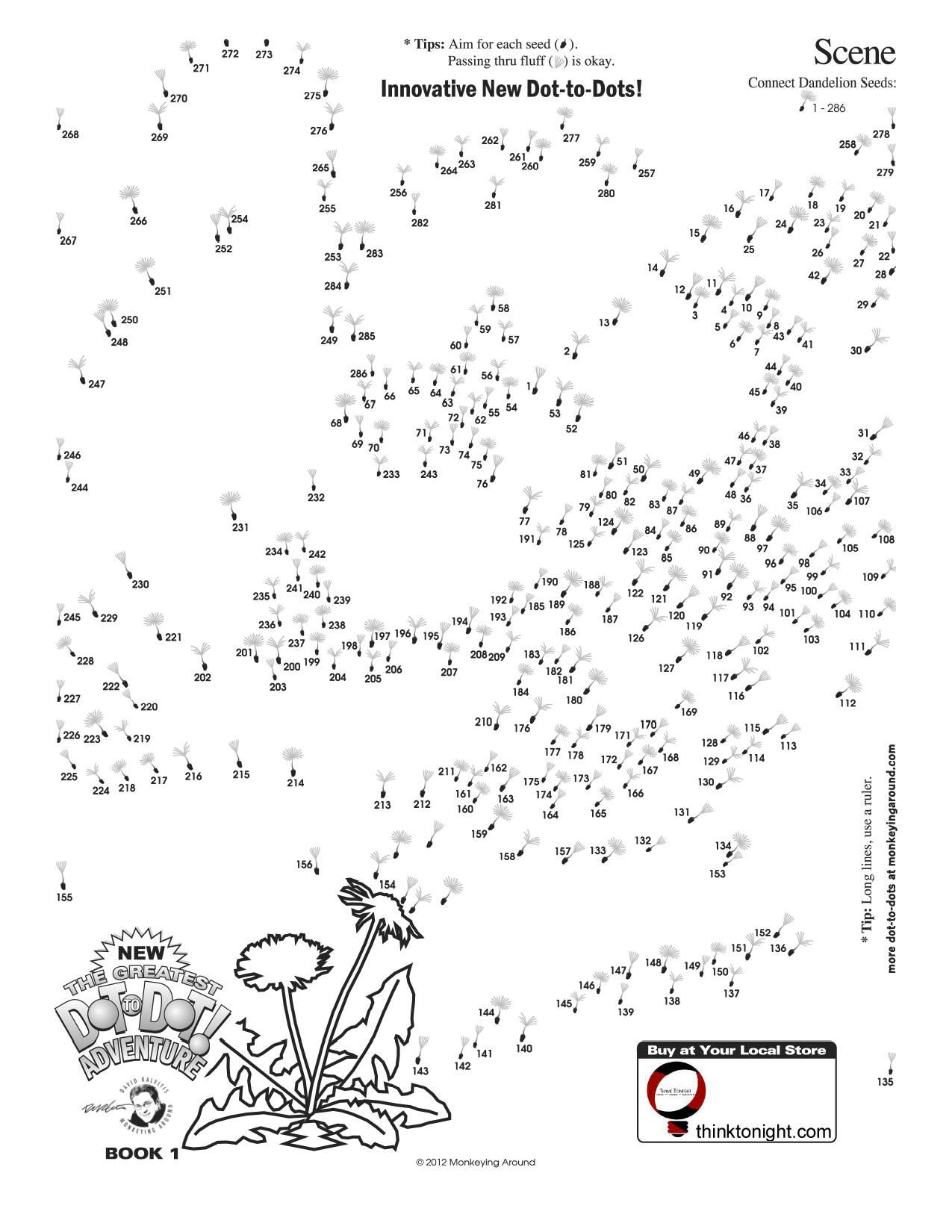 Dot To Dot Adults Printable : adults, printable, Downloadable, Dot-to-Dot, Puzzles