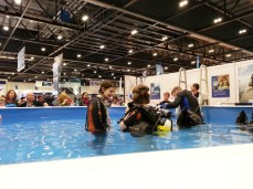 multiple indoor swimming pools.. this one for scuba