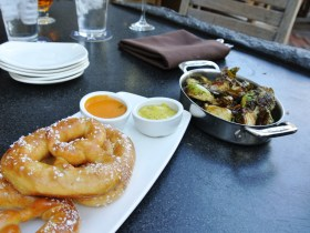 Stone Brewery World Bistro - pretzels, brussel sprouts