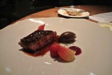 Honey roasted goosnargh duckling - beetroot, raspberries, spiced jus