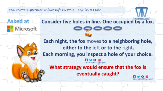 Puzzle 2084 thinkwitty.com - Microsoft Puzzle Fox in a Hole Riddle