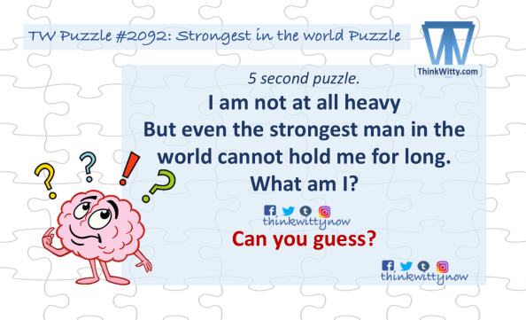 Puzzle 2092 thinkwitty.com - Strongest in the world Puzzle