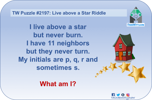 Puzzle 2197 thinkwitty.com - Live above a Star Riddle - Presence of mind