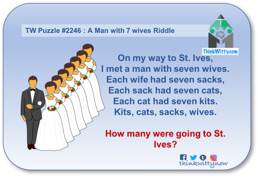 Puzzle 2246 thinkwitty.com - A Man with 7 wives Riddle - Presence of mind