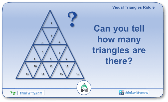 Puzzle 2258 thinkwitty.com - Visual Triangles Riddle