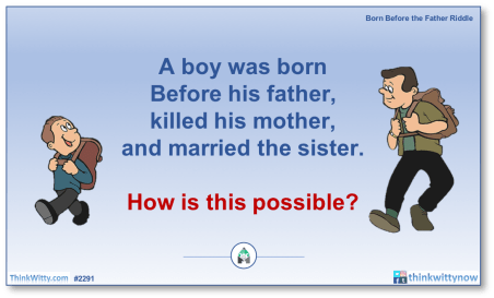 Puzzle 2291 thinkwitty.com - Born Before the Father Riddle