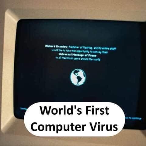 World's first Computer Virus - thinkwitty.com